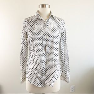 Banana Republic Fitted Non Iron Blouse
